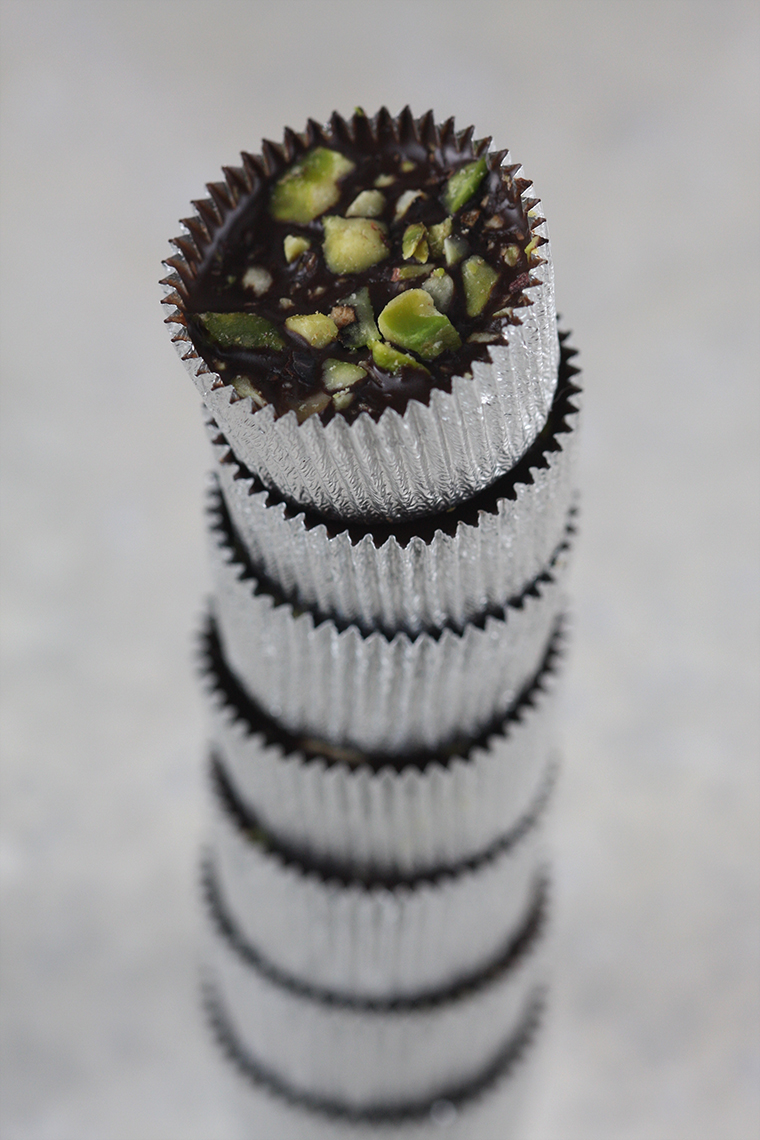 ice chocolate with mint and pistachios - photo philip blankenship